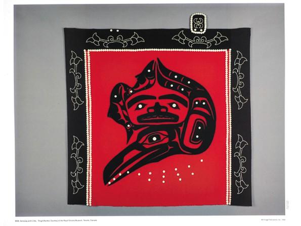 Tlingit Blanket: The Raven Brings Us Salmon