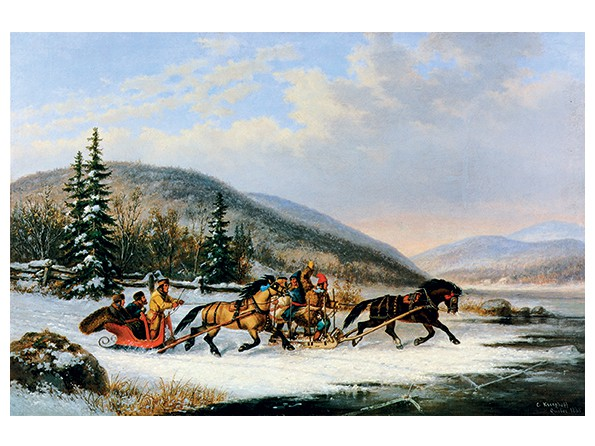 Sleigh Race Across the Ice