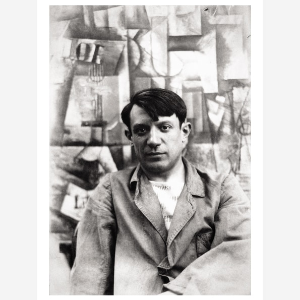 "Photograph of Picasso with ""The Aficionado"""
