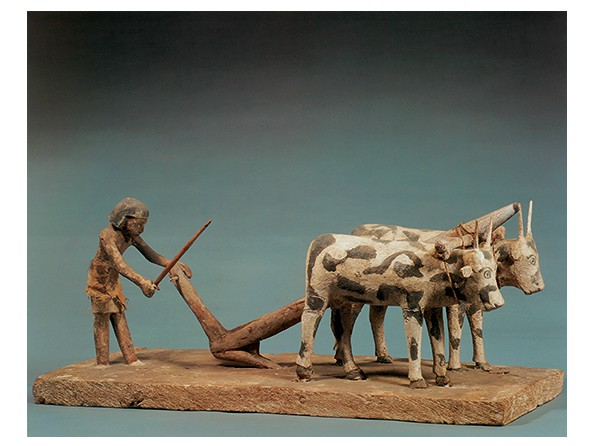 A Man Plowing with a Yoke of Oxen