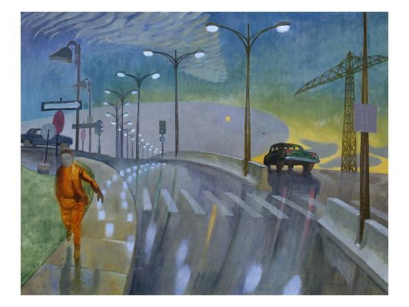 Boulevard in the Rain